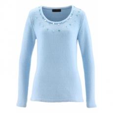 Pullover in blau (Rundhals) für Damen von bonprix