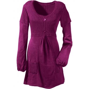 bodyflirt pullover langarm in lila rundhals f r damen von bonprix lila damenmode in bergr en. Black Bedroom Furniture Sets. Home Design Ideas