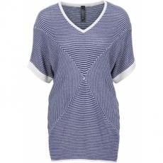 Pullover, O-Shaped halber Arm  in blau für Damen von bonprix