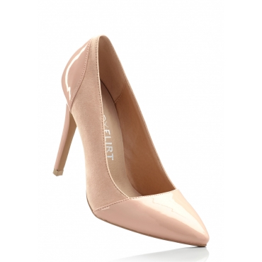 Pumps mit 10 cm High-Heel in natur von bonprix