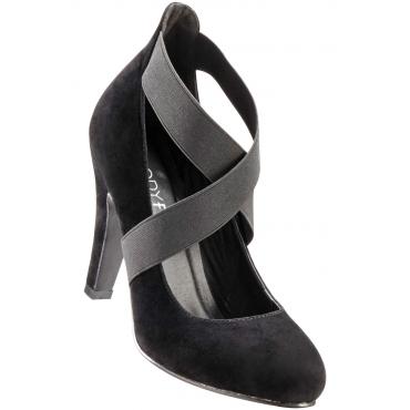 Pumps mit 10 cm High-Heel in schwarz von bonprix