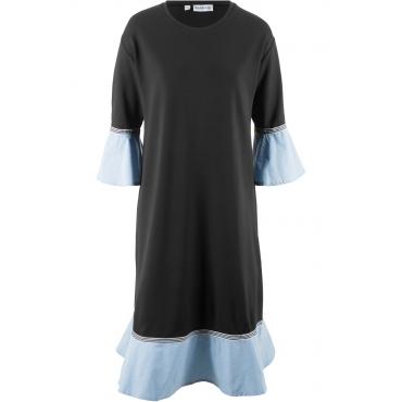 Punto di Roma Kleid, 3/4-Arm - designt von Maite Kelly in schwarz von bonprix