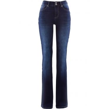 Push-up Jeans, bootcut in schwarz für Damen von bonprix