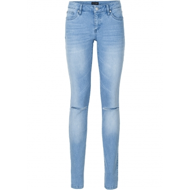 Push-up Skinny Jeans in blau für Damen von bonprix