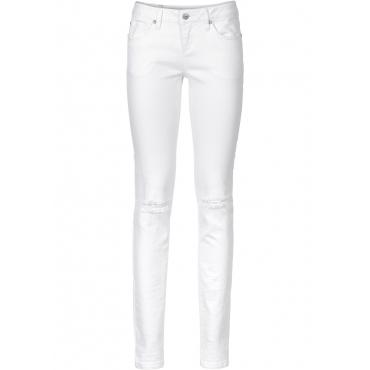 Push-up Skinny Jeans in weiß für Damen von bonprix