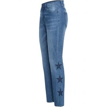 Relaxed-Jeans mit Sternen in blau für Damen von bonprix