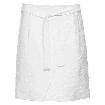 Rock in Wickeloptik in weiß für Damen von bonprix