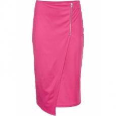 Rock mit Reißverschluss in pink für Damen von bonprix