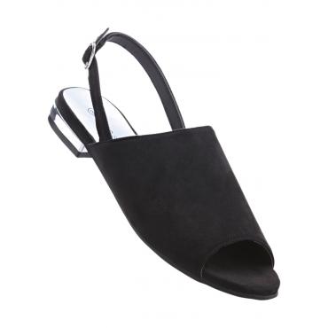 Sandale mit 2 cm Blockabsatz in schwarz von bonprix