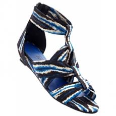 Sandale mit 3,5 cm Flach in blau von bonprix