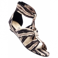 Sandale mit 3,5 cm Flach in schwarz von bonprix