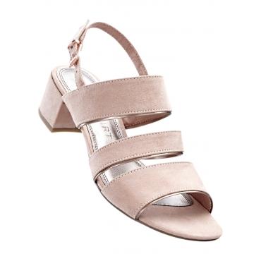 Sandale mit 4,5 cm Blockabsatz in rosa von bonprix