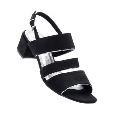 Sandale mit 4,5 cm Blockabsatz in schwarz von bonprix