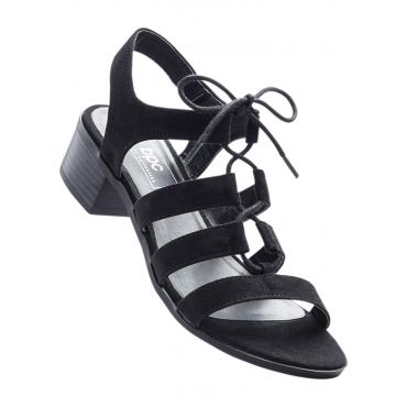 Sandale mit 4 cm Blockabsatz in schwarz von bonprix