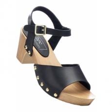 Sandale mit 6,5 cm Blockabsatz in schwarz von bonprix