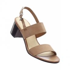 Sandale mit 6 cm Blockabsatz in braun von bonprix