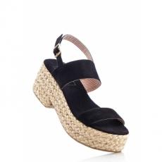 Sandale mit 7 cm Plateau in schwarz von bonprix