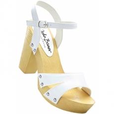 Sandalette mit 10,5 cm Blockabsatz in weiß von bonprix