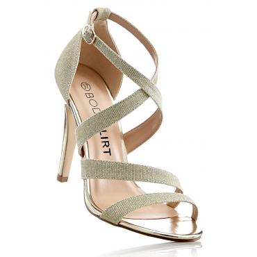 Sandalette mit 10,5 cm High-Heel in gold von bonprix