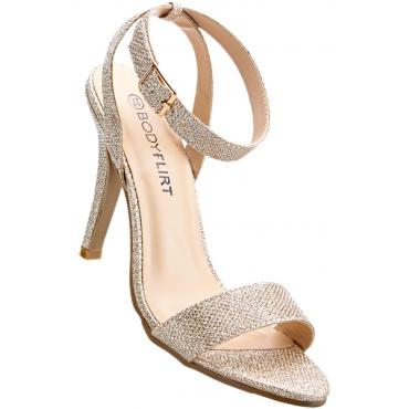 Sandalette mit 10 cm High-Heel in rosa von bonprix