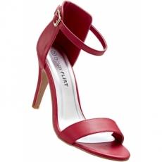Sandalette mit 10 cm High-Heel in rot von bonprix