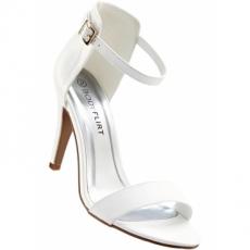 Sandalette mit 10 cm High-Heel in weiß von bonprix