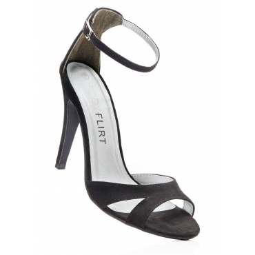 Sandalette mit 10 cm Pfennigabsatz - Stiletto in schwarz von bonprix