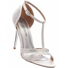 Sandalette mit 10 cm Pfennigabsatz - Stiletto in weiß von bonprix