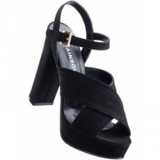 Sandalette mit 11,5 cm High-Heel in schwarz von bonprix