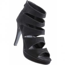 Sandalette mit 11 cm High-Heel in schwarz von bonprix