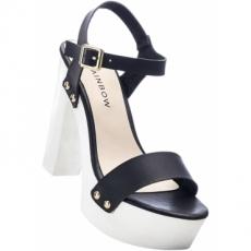 Sandalette mit 12,5 cm Blockabsatz in schwarz von bonprix