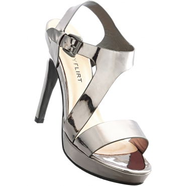 Sandalette mit 13 cm High-Heel in grau von bonprix