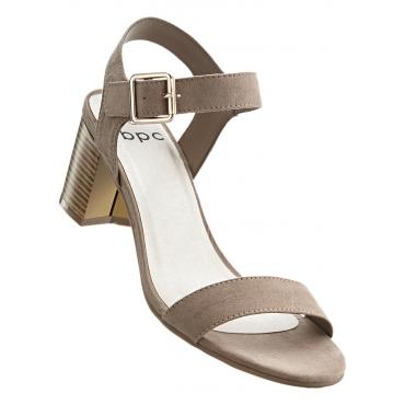 Sandalette mit 5,5 cm Blockabsatz in braun von bonprix