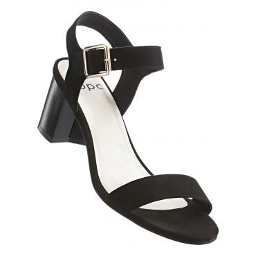 Sandalette mit 5,5 cm Blockabsatz in schwarz von bonprix