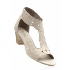 Sandalette mit 5 cm Trichterabsatz in braun von bonprix