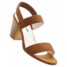 Sandalette mit 7,5 cm Blockabsatz in braun von bonprix