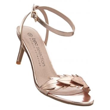 Sandalette mit 7 cm High-Heel in gold von bonprix
