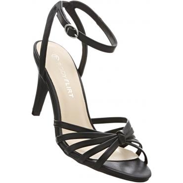 Sandalette mit 8 cm High-Heel in schwarz von bonprix