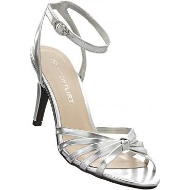 Sandalette mit 8 cm High-Heel in silber von bonprix