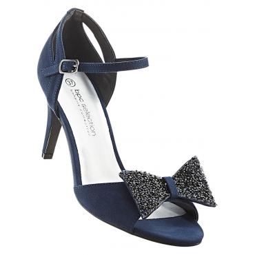 Sandalette mit 8 cm Pfennigabsatz - Stiletto in blau von bonprix