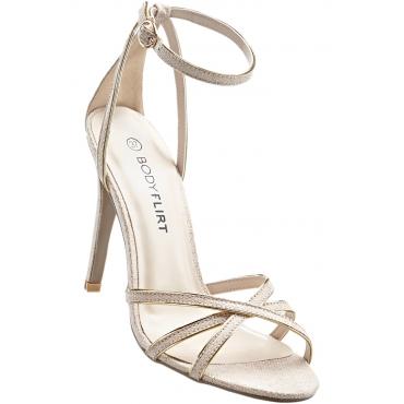 Sandalette mit 9 cm High-Heel in beige von bonprix