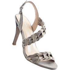 Sandalette mit 9 cm High-Heel in grau von bonprix