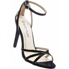 Sandalette mit 9 cm High-Heel in schwarz von bonprix