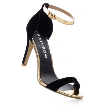 Sandaletten mit 10 cm High-Heel in schwarz von bonprix