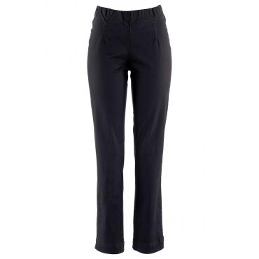 Schlupf-Stretchhose gerade, Normal in schwarz für Damen von bonprix