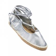 Schnürballerina in grau für Damen von bonprix