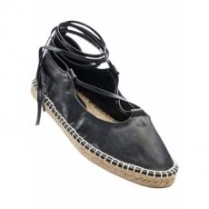 Schnürballerina in schwarz für Damen von bonprix