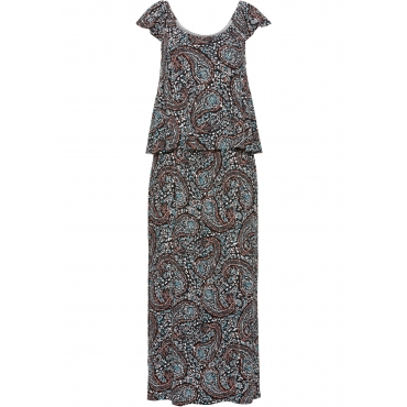 Schulterfreies Kleid ohne Ärmel  in schwarz von bonprix