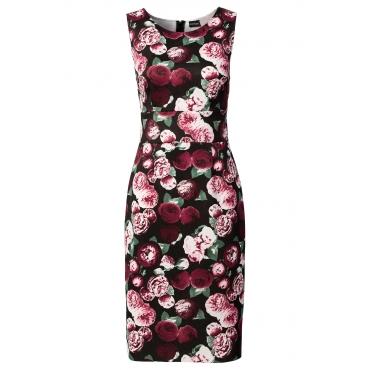 Scuba-Kleid ohne Ärmel  in schwarz von bonprix