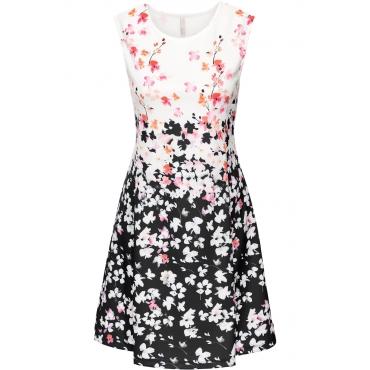 Scuba-Kleid in schwarz von bonprix